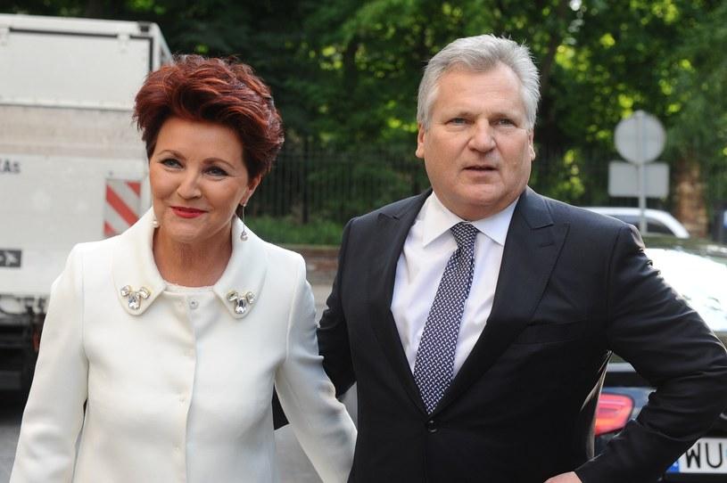 Były prezydent Polski Aleksander Kwaśniewski (P) z żoną Jolantą (L) /East News /East News