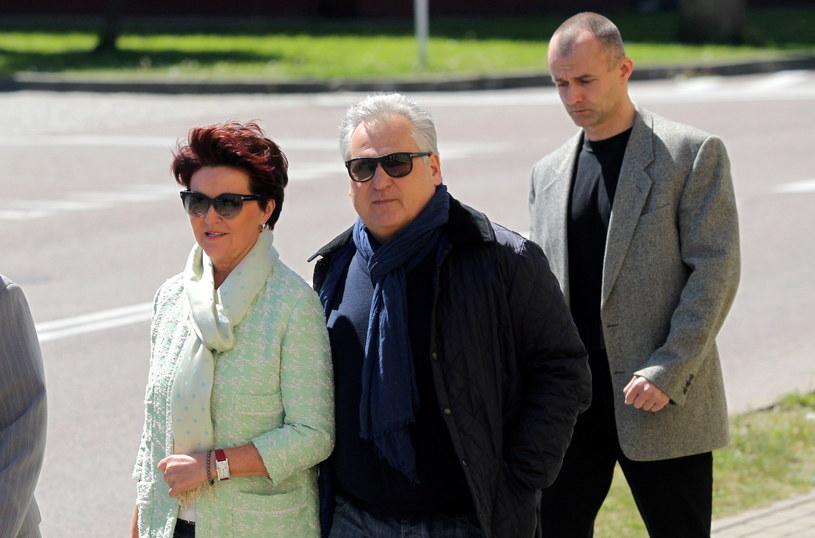 Były prezydent RP Aleksander Kwaśniewski z żoną Jolantą /Tomasz Waszczuk /PAP