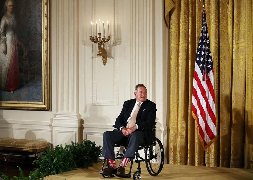 Były prezydent USA George H.W. Bush /Mark Wilson /Getty Images