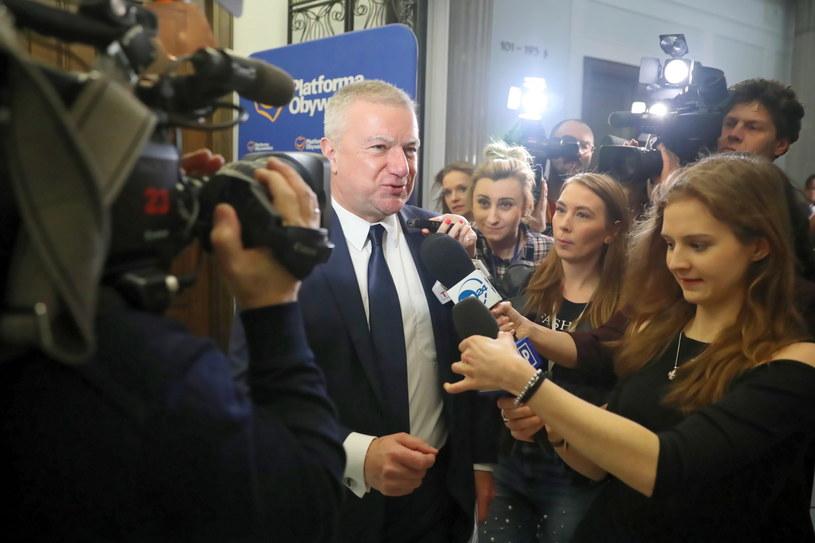 Były sekretarz stanu w Kancelarii Prezesa Rady Ministrów Paweł Graś po przesłuchaniu / Tomasz Gzell    /PAP