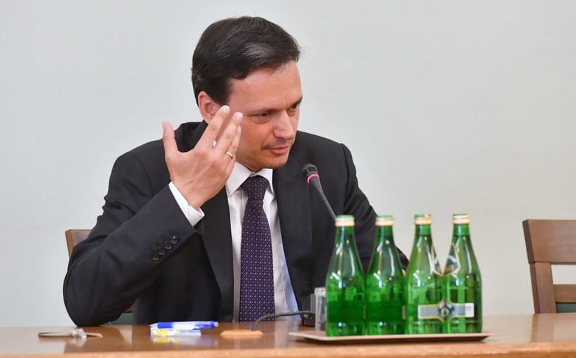 Były szef Kancelarii Prezesa Rady Ministrów i przewodniczący Komitetu Stałego Rady Ministrów , Jacek Cichocki podczas przesłuchania /Piotr Nowak /PAP