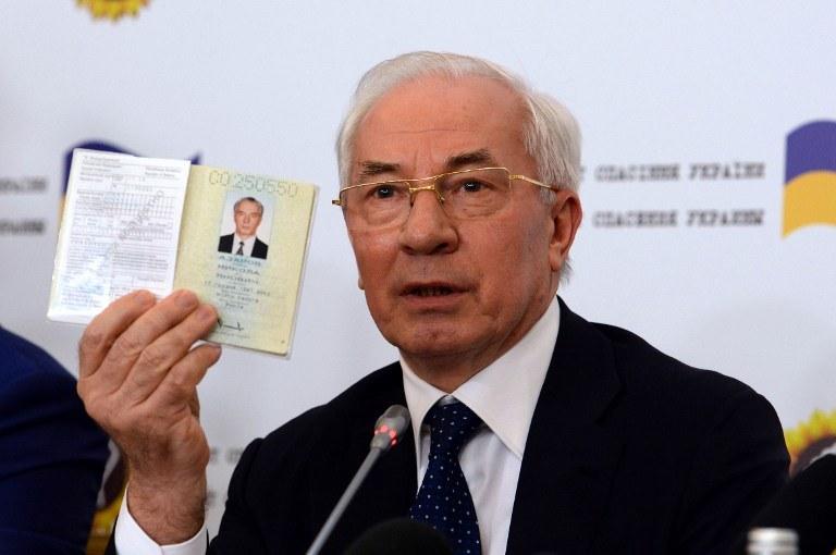 Były ukraiński premier Mykoła Azarow /AFP