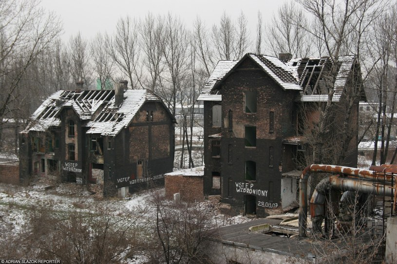 Bytom dzielnica Bobrek budynki mieszkalne zniszczone przez szkody górnicze. Fot. Adrian Slazok /Reporter