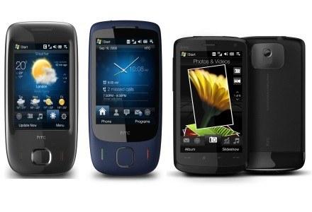 Cała rodzina HTC Touch w komplecie - (od lewej Viva, 3G oraz Touch HD). /materiały prasowe