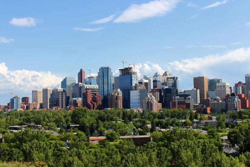 Calgary, największe miasto w prowincji Alberta, leżące na przedgórzu Gór Skalistych /123RF/PICSEL