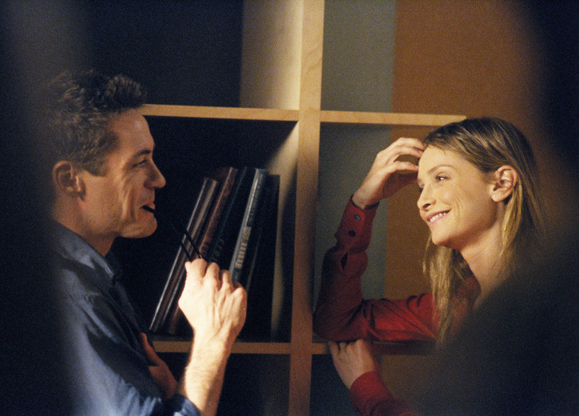 Calista Flockhart, czyli Ally McBeal i Robert Downey Jr., czyli Larry Paul /Polsat