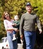 Calista Flockhart z synem i Harrisonem Fordem /INTERIA.PL