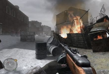 Call of Duty 2. Na układach mGPU GeForce 7  nie odpalimy najnowszych hitów, ale i tak nie jest źle. /materiały prasowe