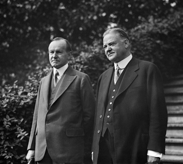 Calvin Coolidge, 30. prezydent USA i Herbert Hoover, 31. President Stanów Zjednoczonych /IanDagnall Computing / Alamy Stock Photo /PAP/Alamy