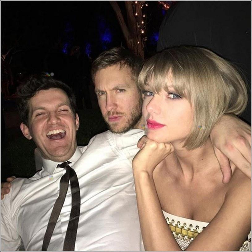 Calvin Harris (w środku) i Taylor Swift (z prawej) /face to face /Reporter