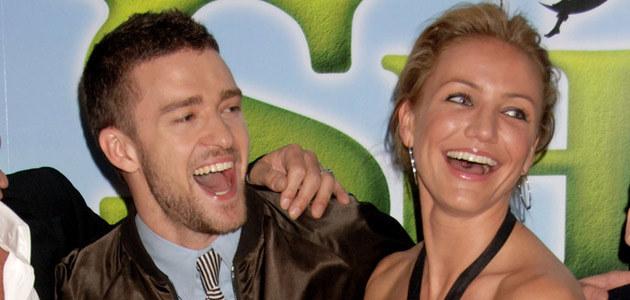 """Cameron i Justin na poniedziałkowej premierze """"Shreka Trzeciego"""", fot. Dave M. Benett  /Getty Images/Flash Press Media"""