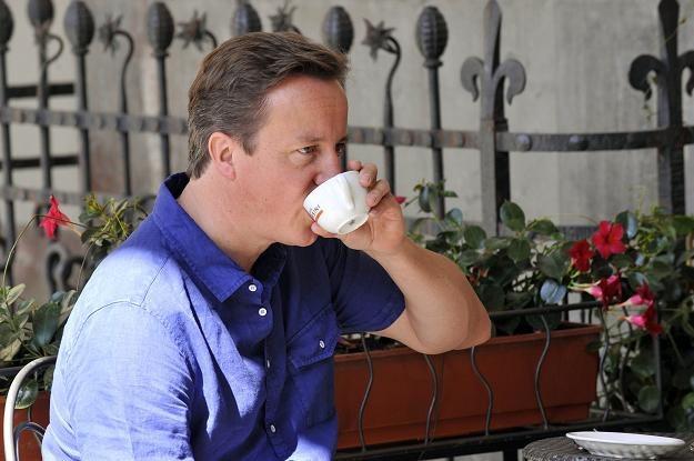 Cameron w kawiarni w Montevarchi /AFP