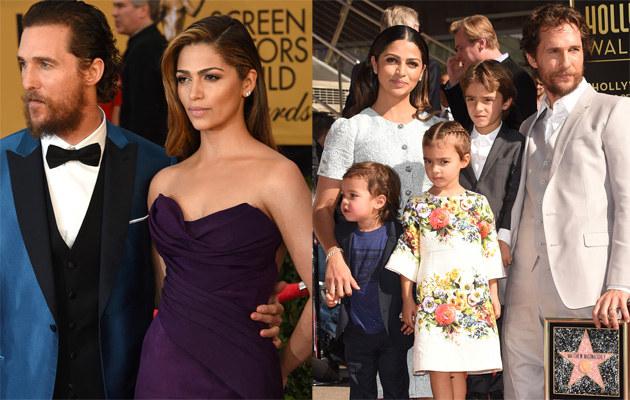 Camila Alves i Matthew McConaughey z dziećmi /Ethan Miller, Jason Merritt /Getty Images