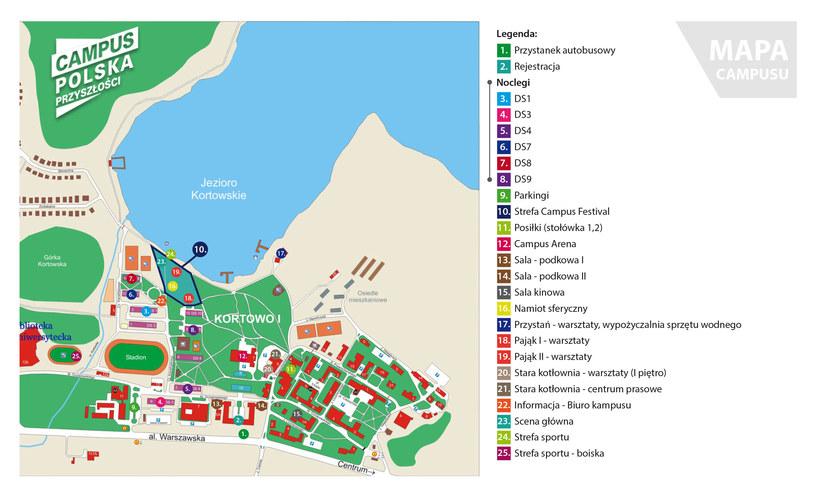 Campus Polska Przyszłości, mapa /materiały prasowe