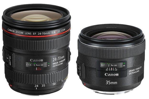 Canon EF 24-70mm f/4L IS USM i EF 35mm f/2 IS USM /materiały prasowe