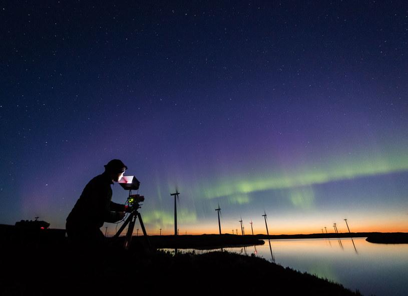 Canon ME20F-SH podczas nagrywania zorzy polarnej /materiały prasowe