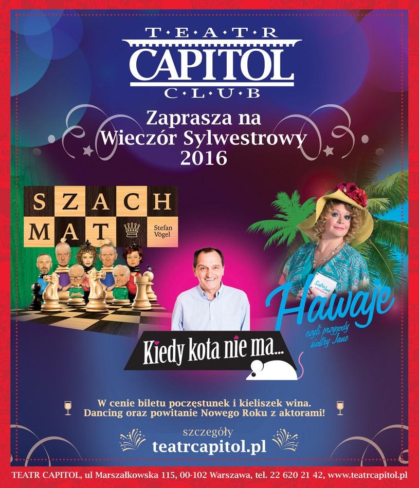 Capitalny Sylwester w Teatrze Capitol /materiały prasowe