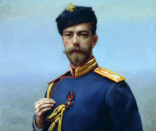 Car Mikołaj II w 1905 roku. Obraz H. Manizera /Wikimedia