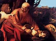 Caravaggio, Ofiara Abrahama, ok. 1603 r. /Encyklopedia Internautica