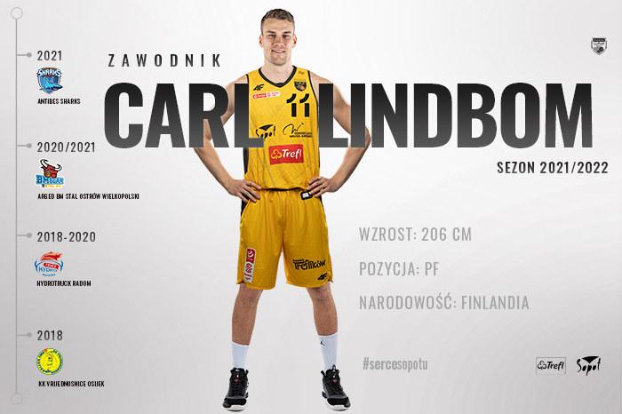 Carl Lindbom nowym zawodnikiem Trefla Sopot /Twitter