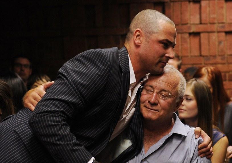 Carl Pistorius, brat Oscara, i ich ojciec Henke /AFP