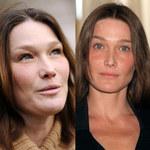 Carla Bruni 12 stycznia 2012 i w 2003 r.