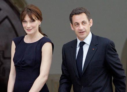 Carla Bruni i Nicolas Sarkozy /arch. AFP