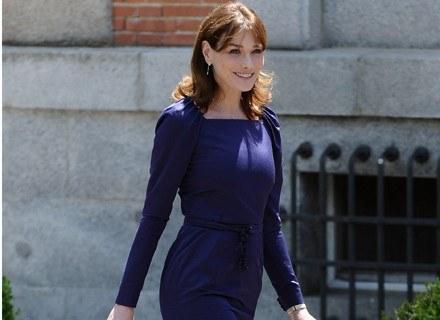 Carla Bruni w sukni od Diora /Getty Images/Flash Press Media