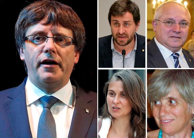 Carles Puigdemont, Antoni Comin, Lluis Puig, Meritxell Serret i Clara Ponsati /EFE /PAP/EPA