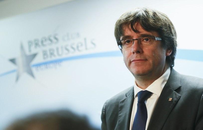 Carles Puigdemont /OLIVIER HOSLET /PAP/EPA