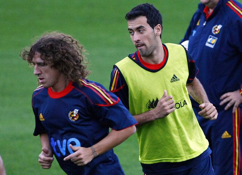 Carles Puyol i Sergio Busquets /AFP