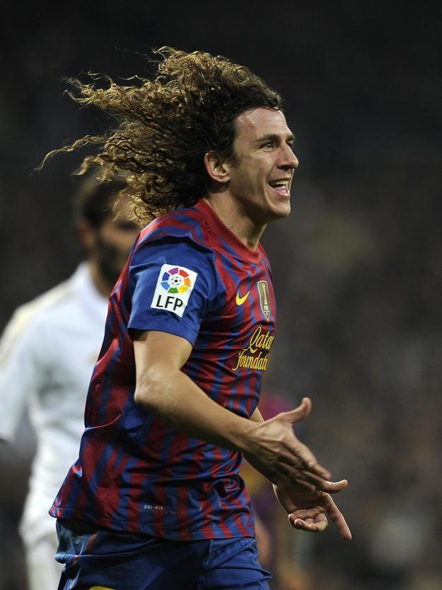 Carles Puyol, kapitan Barcelony strzelił fantastycznego gola z główki /AFP