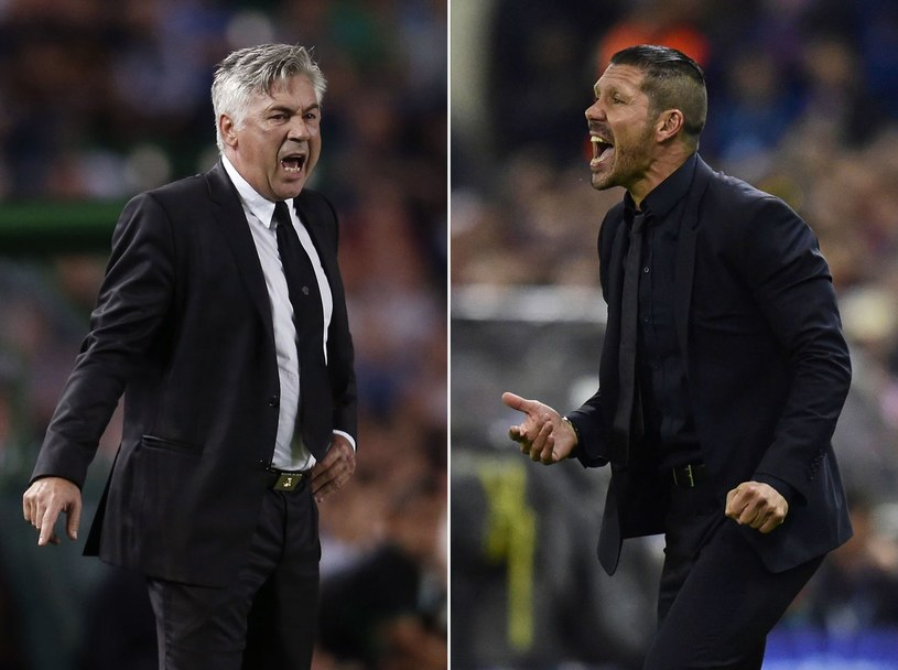 Carlo Ancelotti kontra Diego Simeone /AFP