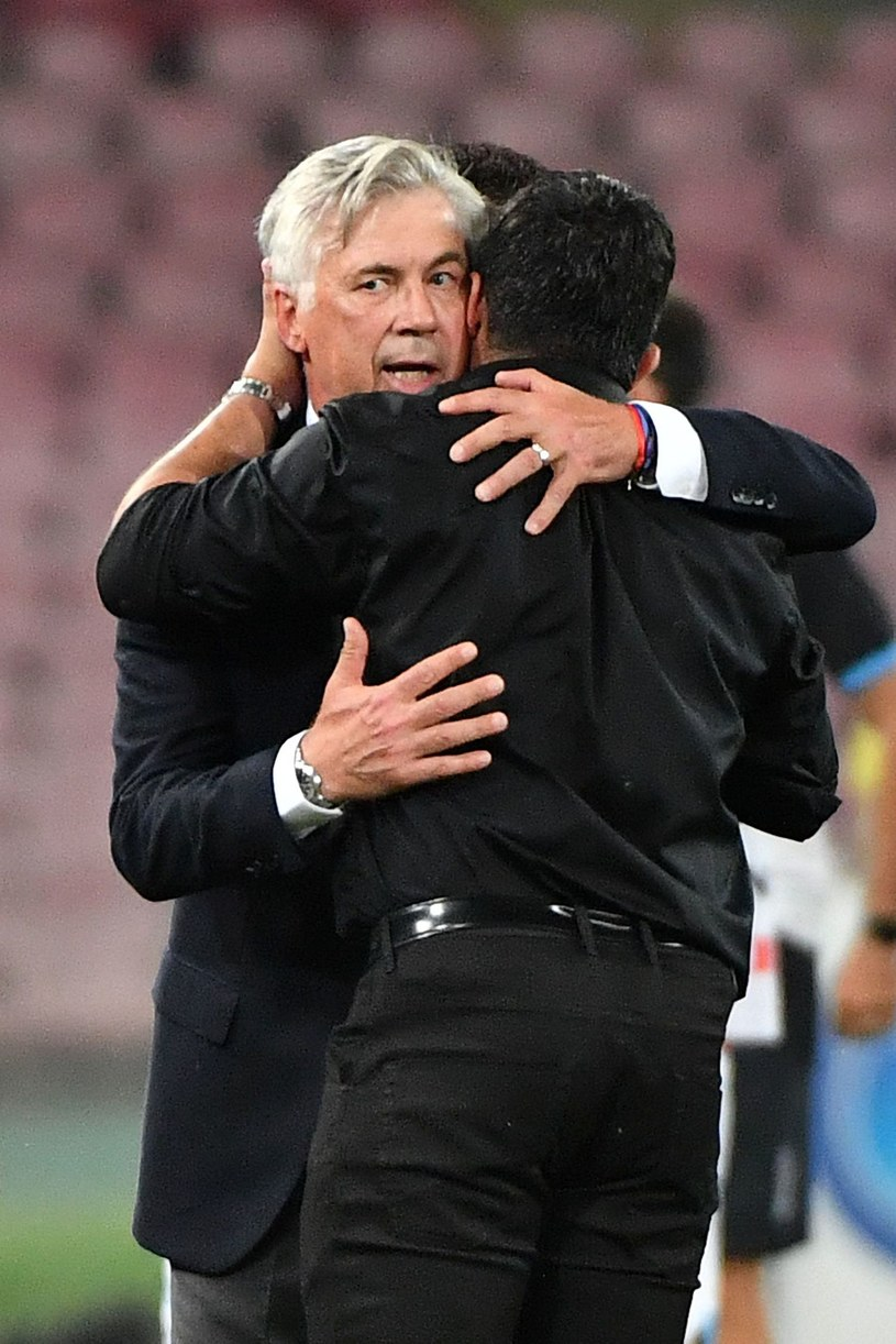 Carlo Ancelotti (z lewej) i Gennaro Gattuso /AFP
