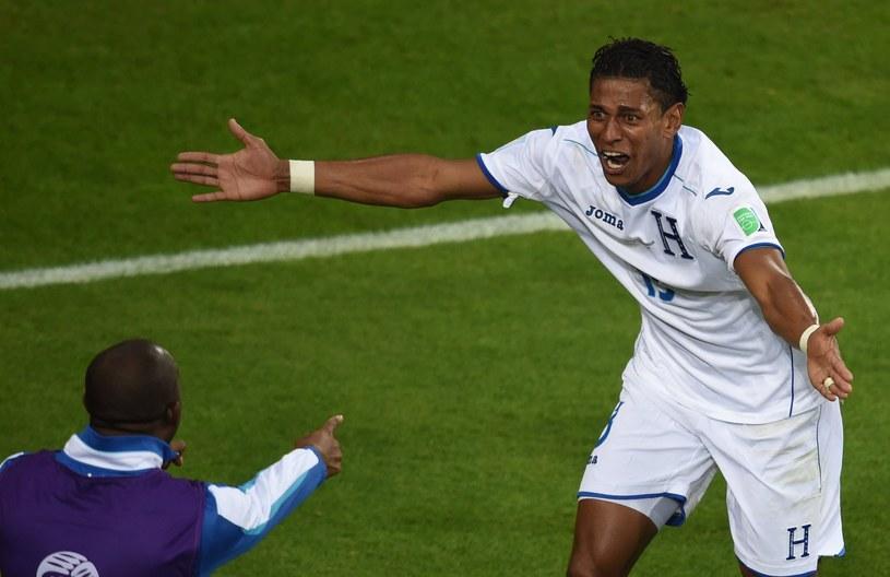 Carlo Costly szaleje po zdobyciu gola dla Hondurasu /AFP