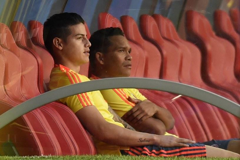 Carlos Bacca (z prawej) i James Rodriguez /AFP