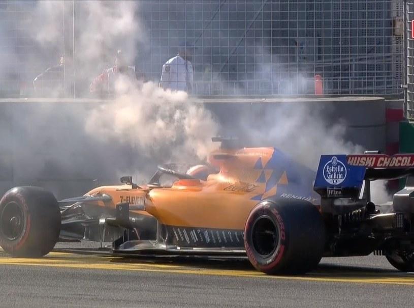 Carlos Sainz musiał zakończyć wyścig na 12. okrążeniu /