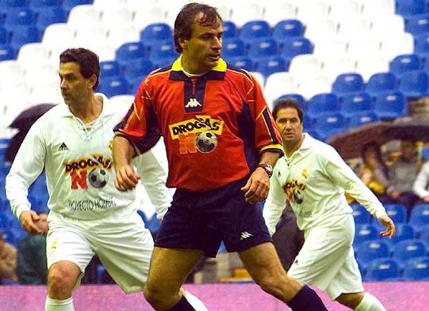 Carlos Sainz w meczu na stadionie Bernabeu (kliknij) /INTERIA.PL