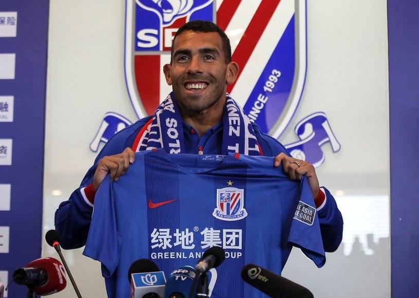 Carlos Tevez 21 stycznia został zaprezentowany jako piłkarz Shenhua Szanghaj. /AFP