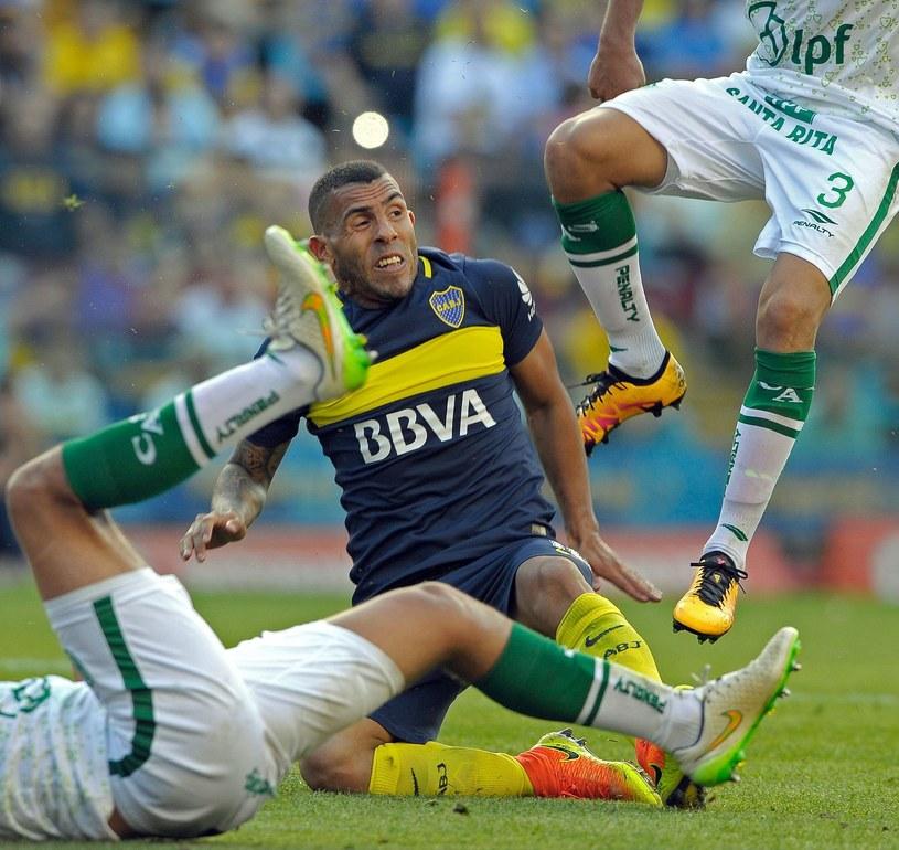Carlos Tevez w barwach Boca Juniors /AFP