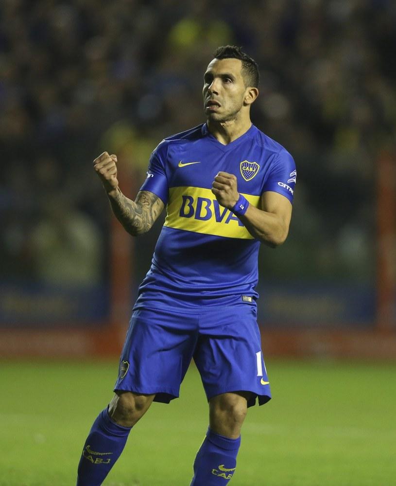 Carlos Tevez z Boca Juniors cieszy się z awans do półfinału Copa Libertadores /PAP/EPA