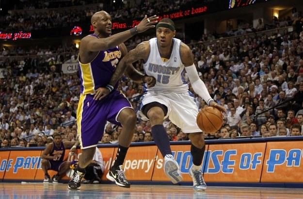 Carmelo Anthony zdobył w meczu z Lakers 31 punktów /AFP