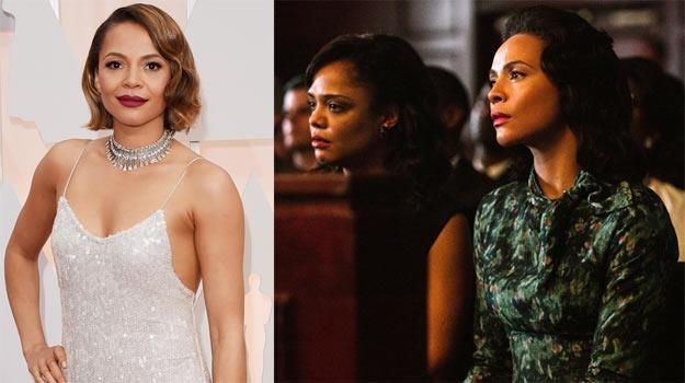"Carmen Ejogo (L) zagrała w ""Selmie"" żonę Martina Luther Kinga - fot. Jason Merritt /Getty Images"
