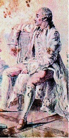 Carmontelle, portret Georgesa de Buffona /Encyklopedia Internautica