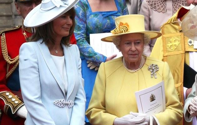 Carole z Królową Elżbietą II /- /Getty Images