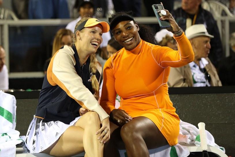 Caroline Wozniacki i Serena Williams /AFP