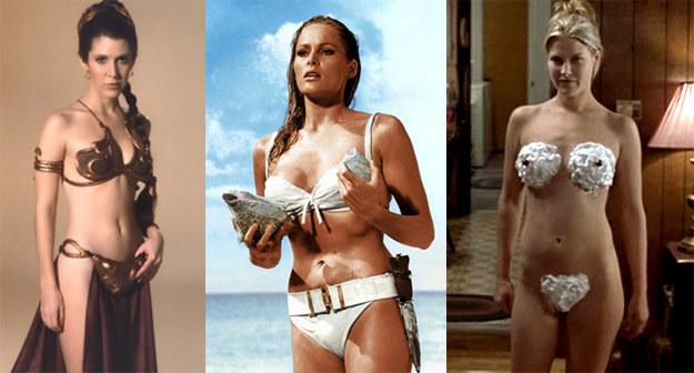 Carrie Fisher, Ursula Andress oraz Ali Larter przeszły do historii kina jako gwiazdy bikini /materiały prasowe