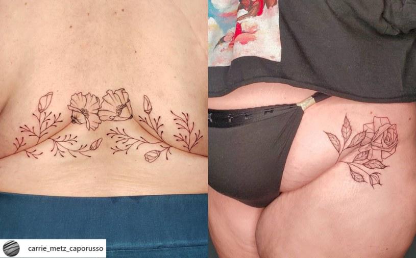 """Carrie Metz-Caporusso postanowiła robić ciałopozytywne """"fałdkowe kwiaty"""" /instagram.com/carrie_metz_caporusso /Instagram"""