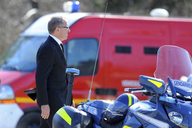 Carsten Spohr na miejscu katastrofy airbusa fot. Jean-Pierre Clatot /AFP