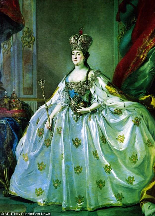 Caryca Katarzyna II - właściwie Sophie Friederike Auguste zu Anhalt-Zerbst (ur. 2 maja 1729 w Szczecinie, zm. 17 listopada 1796 w Petersburgu). Na obrazie Stefano Torelliego /SPUTNIK Russia /East News